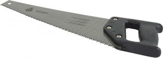 НОЖОВКА ПО ДЕРЕВУ УНИВЕРСАЛ. 450 ММ КРУПНЫЙ ЗУБ (1/48) КЕДР 086-5450 ножовка по сырой древесине runex green 400 мм прямой крупный зуб