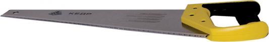НОЖОВКА ПО ДЕРЕВУ 400 ММ 3D-ЗАТОЧКА КАЛЕНАЯ КРУПНЫЙ ЗУБ (1/8/48) КЕДР 035-4005 ножовка по сырой древесине runex green 400 мм прямой крупный зуб