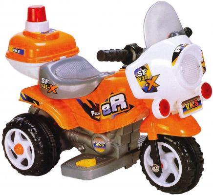 Мотоцикл эл. Патруль, оранж., свет, звук, аккум 6V/4,5AH ,12W