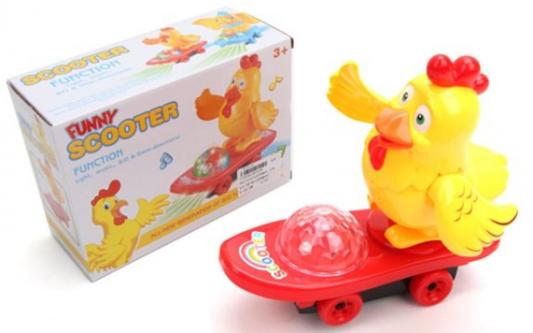 Интерактивная игрушка Наша Игрушка Петушок на скейте от 3 лет