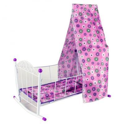Кроватка-люлька для кукол Наша Игрушка Хризантема цена