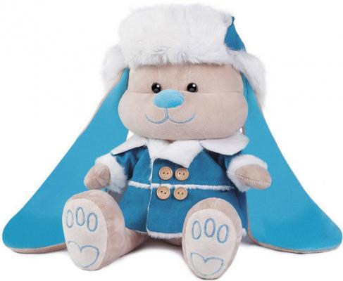 Мягкая игрушка зайка Jack Lin Зайчик в дубленке и шапке искусственный мех полиэфирное волокно полиэтиленовые гранулы 25 см