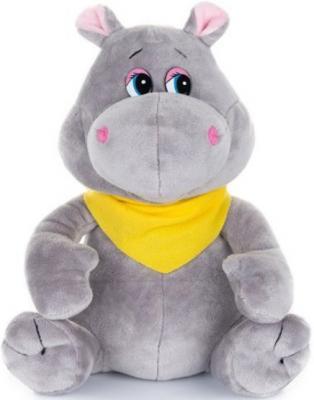 Мягкая игрушка бегемотик Jack Lin Бегемотик с платочком серый 20 см