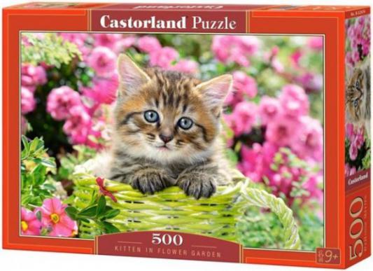 Купить Пазл Кастор Котенок в саду 500 элементов, Пазлы-картины