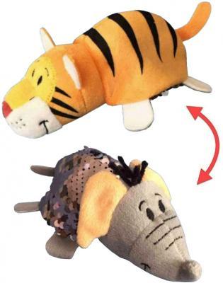 Вывернушка Слон-Тигр 1toy Блеск с пайетками Слон-Тигр текстиль наполнитель пластик 12 см