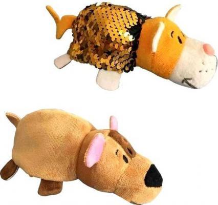 Купить Мягкая игрушка вывернушка 1toy Блеск с пайетками Бульдог-Кот текстиль наполнитель пластик 12 см, разноцветный, пластик, текстиль, наполнитель, Интерактивные мягкие игрушки