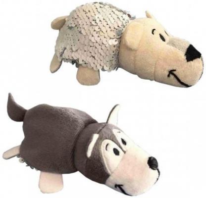 Вывернушка Полярный медвежонок 1toy Блеск с пайетками Хаски-Полярный медведь текстиль наполнитель пластик 12 см