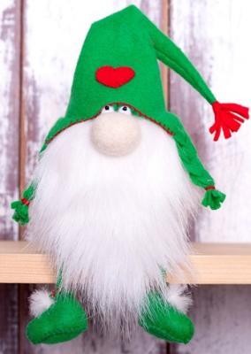 Набор для изготовления текстильной игрушки Перловка Зеленый гном от 3 лет перловка набор для изготовления игрушки фея рукоделия перловка