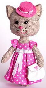 Набор для изготовления текстильной игрушки Перловка Тётя Кошка от 8 лет перловка набор для изготовления игрушки фея рукоделия перловка