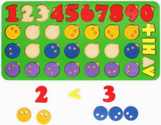 Вкладыш TAU TOY Арифметика Смайлик набор мячей детских 1 toy смайлик