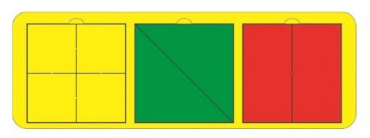 Головоломка TAU TOY Собери квадрат 3 фигуры