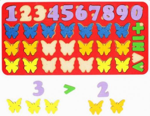 Вкладыш TAU TOY Арифметика Бабочки