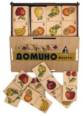 Настольная игра TAU TOY домино Домино Фрукты настольная игра умка домино овощи и фрукты 3 в 1