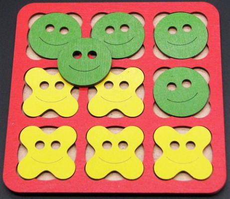 НИ Крестики нолики Смайлик 14х14 см, в асс-те набор мячей детских 1 toy смайлик