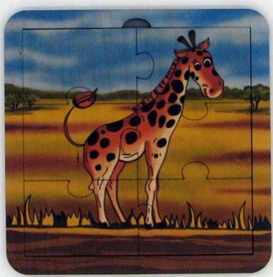 Пазл деревянный Жираф 6 дет.,14х14 см