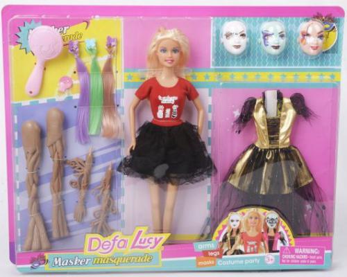 Купить Кукла Defa Lucy Маскарад, 14 аксесс., в ассорт., кор., 29 см, пластмасса, Классические куклы и пупсы