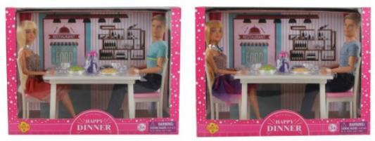 Купить Набор кукол Defa Ужин 30 см шарнирная, пластмасса, текстиль, Классические куклы и пупсы