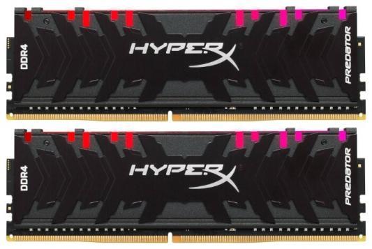 Модуль памяти DDR4 Kingston 32Gb KIT (16GbX2) 3000MHz HyperX PREDATOR RGB CL15 XMP [HX430C15PB3AK2/32] цена 2017