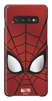 цены Чехол (клип-кейс) Samsung для Samsung Galaxy S10+ Marvel Case Spiderman красный (GP-G975HIFGHWD)