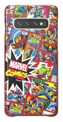 Чехол (клип-кейс) Samsung для Samsung Galaxy S10 Marvel Case Mcomics красный (GP-G973HIFGKWH) чехол клип кейс samsung для samsung galaxy s10 marvel case avlogo черный gp g973hifgkwe