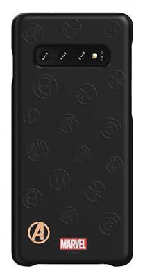 Чехол (клип-кейс) Samsung для Samsung Galaxy S10 Marvel Case AvLogo черный (GP-G973HIFGKWE)