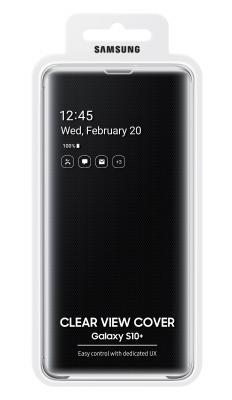 Чехол (флип-кейс) Samsung для Samsung Galaxy S10+ Clear View Cover черный (EF-ZG975CBEGRU) цена