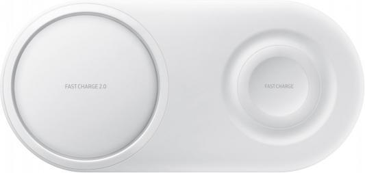 Беспроводное зарядное устройство Samsung EP-P5200 USB-C 2.1A белый EP-P5200TWRGRU беспроводное зарядное устройство samsung ep n5100 1а [ep n5100bwrgru] белый