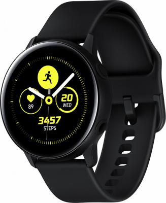 Смарт-часы Samsung Galaxy Watch Active 39.5мм 1.1 Super AMOLED черный (SM-R500NZKASER) смарт часы samsung galaxy gear fit 2 pro 1 5 super amoled черный sm r365nzraser