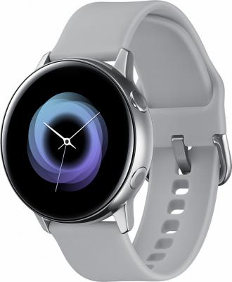Смарт-часы Samsung Galaxy Watch Active 39.5мм 1.1 Super AMOLED серебристый (SM-R500NZSASER) смарт часы samsung galaxy gear fit 2 pro 1 5 super amoled черный sm r365nzraser