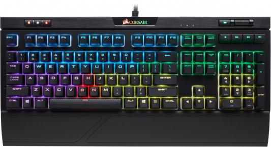 Corsair Gaming™ STRAFE RGB MK.2 Mechanical Gaming Keyboard, Backlit RGB LED, Cherry MX Silent (Russian) 920 008868 клавиатура logitech rgb mechanical gaming keyboard g513 tactile switch