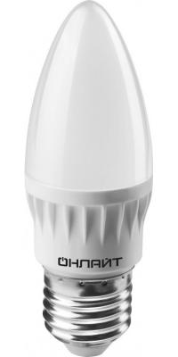Лампа светодиодная свеча Navigator OLL-C37-8-230-4K-E27-FR E27 8W 4000K лампа светодиодная шар volpe led a60 8w nw e27 fr dim o e27 8w 3000k
