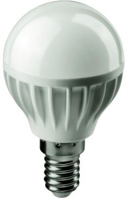 цена Лампа светодиодная шар Navigator OLL-G45-6-230-2.7K-E14 E14 6W 2700K онлайн в 2017 году