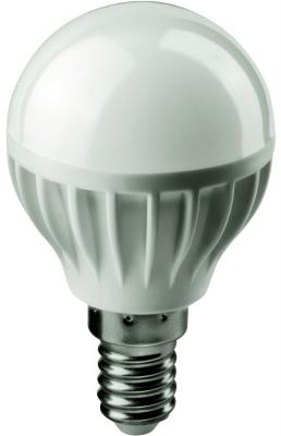 Лампа светодиодная шар Navigator OLL-G45-6-230-4K-E14 E14 6W 4000K лампа светодиодная маяк b45 e14 6w 4000k шар матовый е14 аc 175 250v 6w