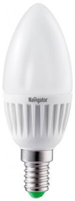Лампа светодиодная свеча Navigator NLL-C37-7-230-2.7K-E14-FR (94 491) E14 7W 2700K лампа светодиодная свеча navigator nll c37 7 230 2 7k e27 fr 94 493 e27 7w 2700k