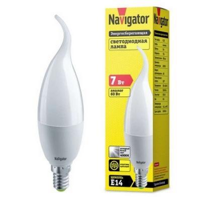 купить Лампа светодиодная свеча на ветру Navigator NLL-FC37-7-230-2.7K-E14-FR (94 495) E14 7W 2700K по цене 1030 рублей