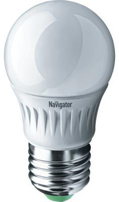 Лампа светодиодная шар Navigator NLL-G45-7-230-4K-E27 ( 94 469) E27 7W 4000K лампы галогеновая шар g45 28w e27