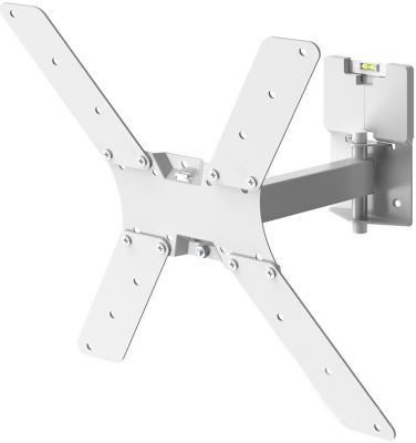 Фото - Кронштейн для телевизора Holder LCD-5520-W белый 32-55 макс.45кг настенный поворотно-выдвижной и наклонный кронштейн для телевизора holder lcds 5064 10 32 настенный поворотно выдвижной и наклонный