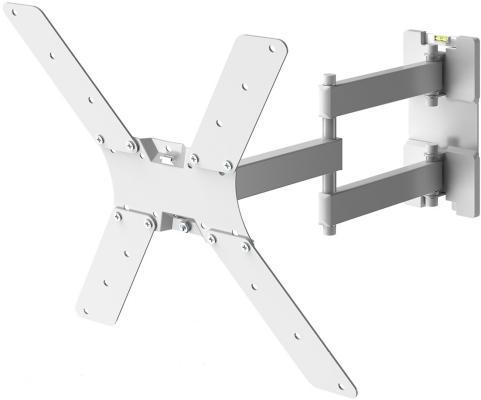 Фото - Кронштейн для телевизора Holder LCD-5566-W белый 32-55 макс.45кг настенный поворотно-выдвижной и наклонный кронштейн для телевизора holder lcds 5064 10 32 настенный поворотно выдвижной и наклонный