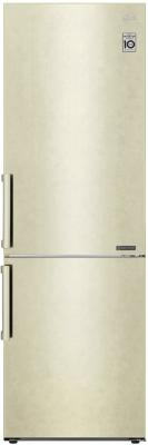 Холодильник LG GA-B459BECL бежевый холодильник lg gr h802hehz бежевый
