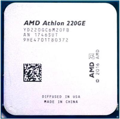 Фото - Процессор AMD Athlon 220GE AM4 (YD220GC6M2OFB) (3.4GHz/100MHz/Radeon Vega 3) Tray процессор amd athlon 200ge am4 yd200gc6m2ofb 3 2ghz 100mhz radeon vega 3 tray