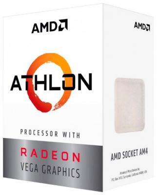 Фото - Процессор AMD Athlon 220GE AM4 (YD220GC6FBBOX) (3.4GHz/100MHz/Radeon Vega 3) Box процессор amd athlon 200ge am4 yd200gc6m2ofb 3 2ghz 100mhz radeon vega 3 tray