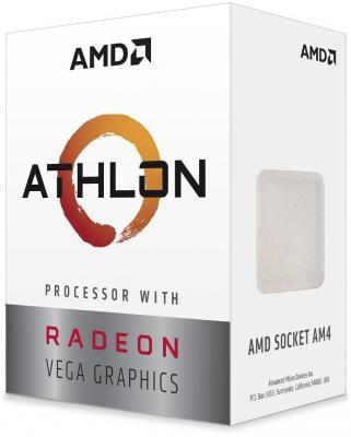 Фото - Процессор AMD Athlon 240GE AM4 (YD240GC6FBBOX) (3.5GHz/100MHz/Radeon Vega 3) Box процессор amd athlon 200ge am4 yd200gc6m2ofb 3 2ghz 100mhz radeon vega 3 tray