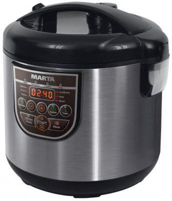 Мультиварка Marta MT-4322 860 Вт 5 л черный серебристый MT-4322 вмятина на корпусе цены