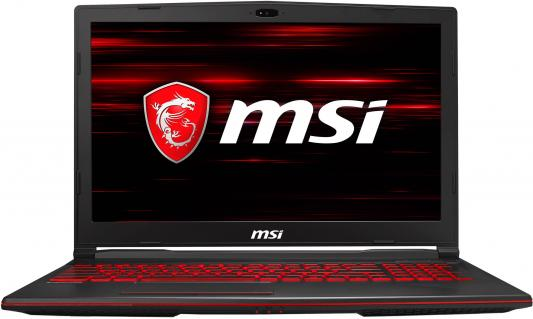 Ноутбук MSI GL63 8SE-421RU Core i7 8750H/16Gb/1Tb/SSD128Gb/nVidia GeForce RTX 2060 6Gb/15.6/FHD (1920x1080)/Windows 10/black/WiFi/BT/Cam ноутбук msi gl63 8rc 468xru core i7 8750h 16gb 1tb nv gtx1050 2gb 15 6 fullhd dos black