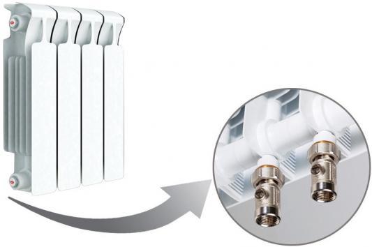 Радиатор RIFAR Monolit 350 х 4 сек НП прав (MVR) 50мм биметаллический радиатор rifar рифар b 500 нп 10 сек лев кол во секций 10 мощность вт 2040 подключение левое