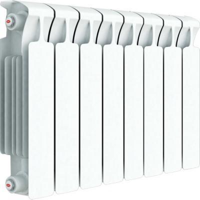 Радиатор RIFAR Monolit 350 х 8 сек НП прав (MVR) 50мм биметаллический радиатор rifar рифар b 500 нп 10 сек лев кол во секций 10 мощность вт 2040 подключение левое