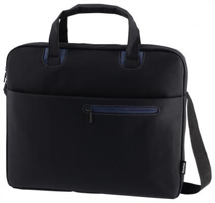 Сумка для ноутбука 15.6 HAMA Sydney полиэстер черный синий 00101931