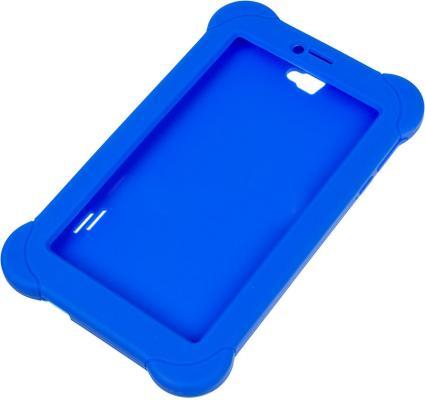 Чехол Digma для Digma Plane 7565N силикон синий цены онлайн