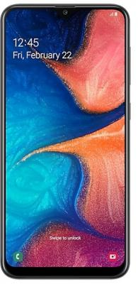 Смартфон Samsung Galaxy A20 32 Гб черный (SM-A205FZKVSER) смартфон samsung galaxy j1 2016 8 гб черный sm j120fzkdser