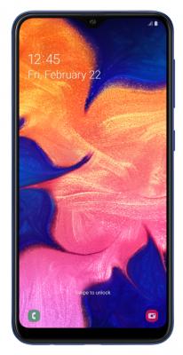 Смартфон Samsung Galaxy A10 32 Гб синий (SM-A105FZBGSER) смартфон samsung galaxy j6 32 гб серый